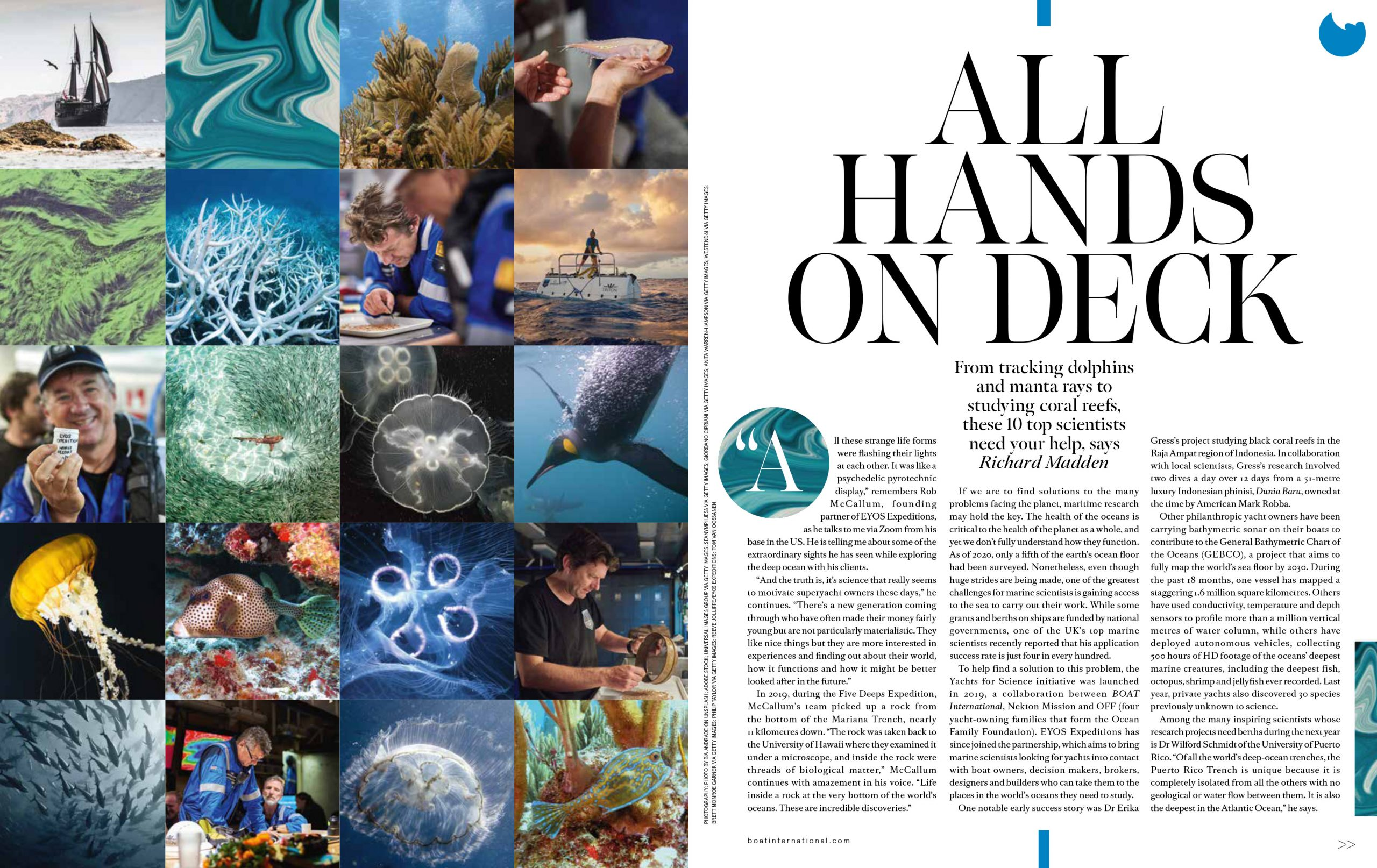 All Hand on Deck Article in Boat International Page 1